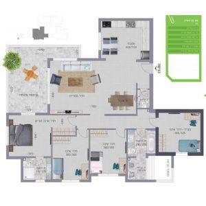 נוף השרון נתניה תוכנית דירה