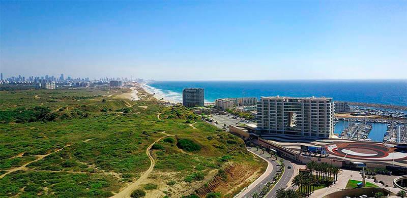 תוכנית חוף התכלת בעיר הצליה תמונה להמחשה