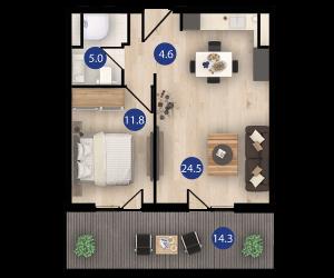 isani דירת 2 חדרים