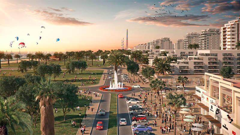 תמונת הדמיה להמחשה בלבד - עיר ימים חדרה רובע הים 2020