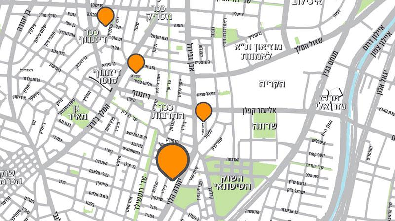 יהודה הלוי 129 תל אביב - מפה
